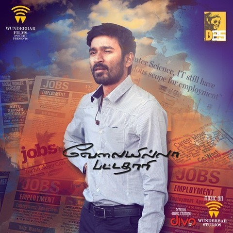 VIP (Title Song) MP3 Song Download- Velai Illa Pattadhaari