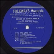 Songs Of South Africa: Sung In Afrikaans Songs