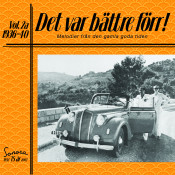Det Var Battre Forr Volym 2a 1936 40 Songs