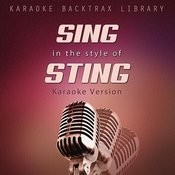 Sing In The Style Of Sting (Karaoke Version) Songs