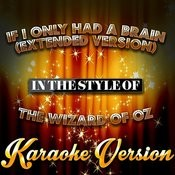 If I Only Had A Brain (Extended Version) [In The Style Of The Wizard Of Oz] [Karaoke Version] - Single Songs