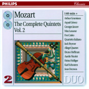Mozart The Complete Quintets Vol 2 Songs