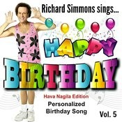 Richard Simmons Sings Happy Birthday (Hava Nagila Edition), Vol. 5 Songs
