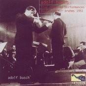 Live Concerto Performances: Dvo?ak 1944 & Brahms 1951 Songs