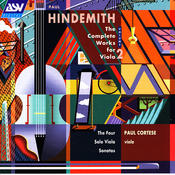 Hindemith: The Complete Works for Viola, Vol. 2: The 4 Solo Viola Sonatas Songs