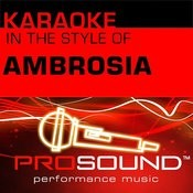 How Much I Feel (Karaoke With Background Vocals)[In The Style Of Ambrosia] Song