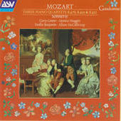 Mozart: 3 Piano Quartets, K478, K493, K452 Songs