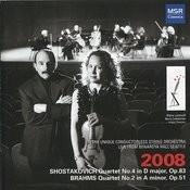 Shostakovich: String Quartet No. 4 - Brahms: String Quartet No. 2 - Dvořák: String Quartet No. 9 Songs