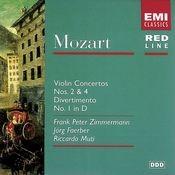 Mozart: Violin Concertos Nos. 2 & 4/Divertimento No. 1 Songs