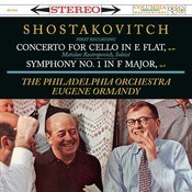 Shostakovich: Cello Concerto In E-Flat, Op. 107; Symphony No. 1 In F-Major, Op. 10 Songs