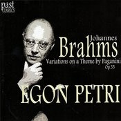 Brahms: Variations On A Theme By Paganini, Op. 35 Songs