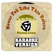 Never Felt Like This Before (In The Style Of Shaznay Lewis) [Karaoke Version] Song