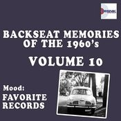 Backseat Memories Of The 1960's - Vol. 10 Songs