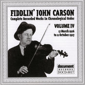 Fiddlin' John Carson: Complete Recorded Works, Vol.4: 1926-1927 Songs
