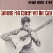 California Concert With Rolf Cahn Songs