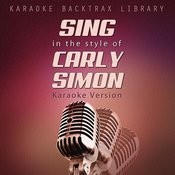 Sing In The Style Of Carly Simon (Karaoke Version) Songs