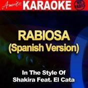 Rabiosa (Spanish Version) [In The Style Of Shakira Feat. El Cata] [Karaoke Version] Songs