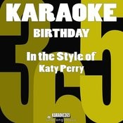 Birthday (In The Style Of Katy Perry) [Karaoke Version] - Single Songs