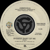 Biggest Part Of Me / Livin' On My Own [Digital 45] Songs