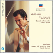 Mendelssohn: String Symphonies Nos.9, 10 & 12; Concerto in A minor for Piano & Strings Songs