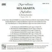 Marvellous Melakarta Melodies Vol 8 Songs