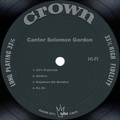 Cantor Solomon Gordon Songs