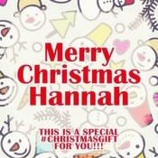 Merry Christmas Hannah - A Special #christmasgift For You Songs