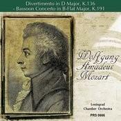 Mozart: Divertimento In D Major, K. 136 - Bassoon Concerto In B-Flat Major, K. 191 Songs