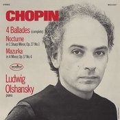 Chopin: 4 Ballades; Nocturne, Op. 27 No. 1; Mazurka, Op. 17 No. 4 Songs