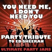 You Need Me, I Don't Need You (Party Tribute To Ed Sheeran) Songs