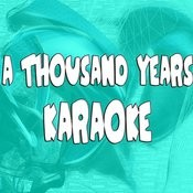 A Thousand Years (In The Style Of Christina Perri) (Karaoke) Songs