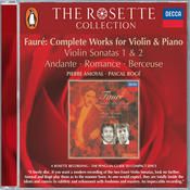 Fauré: Violin Sonatas Nos.1 & 2/Andante/Romance/Berceuse etc. Songs