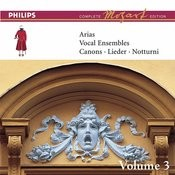 Mozart: Arias, Vocal Ensembles & Canons - Vol.3 (Complete Mozart Edition) Songs
