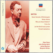 Britten: Seven Sonnets of Michelangelo; Winter Words; Who Are These Children? Songs