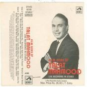 Talat Mahmood Film Gems Of Live Recording Songs