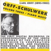 Orff-Schulwerk, Vol. 3: Piano Music Songs
