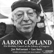 Aaron Copland: 81st Birthday Concert Songs