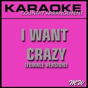 I Want Crazy (Karaoke Instrumental Track) [In The Style Of Hunter Hayes] Songs