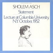 A Statement And Lecture At Columbia University N.Y. October, 1952 Songs