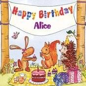 Happy Birthday Alice Songs