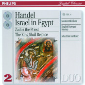 Handel Israel In Egypt Coronation Anthems Songs