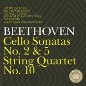 Beethoven: Cello Sonatas Nos.2 & 5, String Quartet No.10 Songs