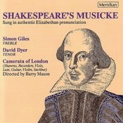 Shakespeare's Musicke - Camerata Of London Songs
