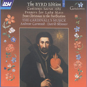 Byrd:Cantiones sacrae 1589; Propers for Lady Mass from Christmas to the Purification Songs