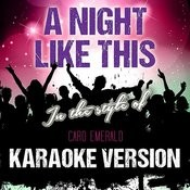 A Night Like This (In The Style Of Caro Emerald) [Karaoke Version] - Single Songs