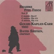 Brahms: Five Trios, Volume II Songs