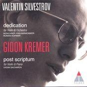 Silvestrov : Dedication & Post Scriptum Songs
