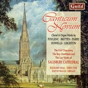 Canticum Novum - Choral & Organ Works By Poulenc, Britten, Parry, Howells, Leighton Songs