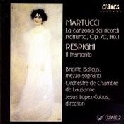 Giuseppe Martucci: La canzona dei ricordi & Nbotturno, Op. 70, No. 1 / Ottorino Respighi: Il Tramonto Songs