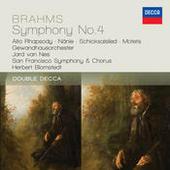 Brahms: Symphony No.4; Alto Rhapsody; Nanie Songs